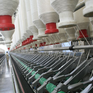 Textile production factory spinning machines